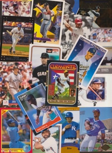 Puerto Rico / 50 Different Baseball Cards of Players from Puerto Rico! Roberto Clemente, Roberto Alomar, Carlos Beltran, Bernie Williams, Ivan Rodriguez, Benito Santiago & more