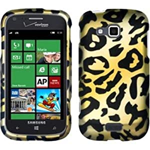 Rubberized Hard Design Case Cover For Samsung ATIV Odyssey i930 - Cheetah