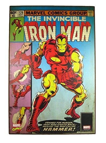 Silver Buffalo Marvel Comics The Invincible Iron Man Wood Wall Art Vintage Look 19