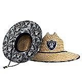 Las Vegas Raiders NFL Floral Straw Hat