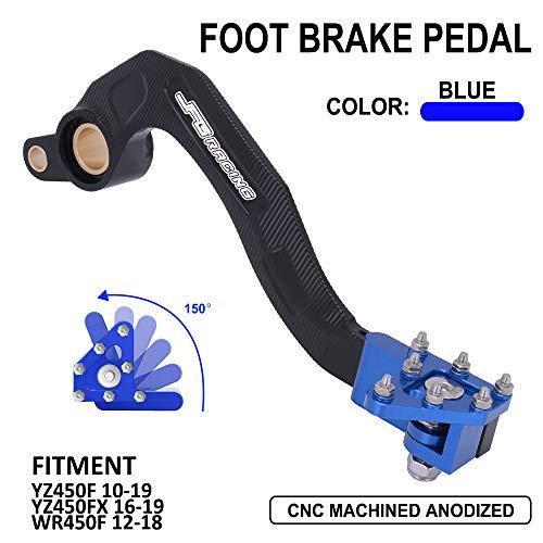 Rear Brake Foot Pedal Lever - CNC Aluminum Motorcycle YAMAHA YZ450F YZF450 YZF 450 2010-2019 10-19 10 11 YZ450FX 450FX FX 2016-2019 16-19 WR450F WRF450 WRF 12-18 2012-2018 16 17 18 (Blue)