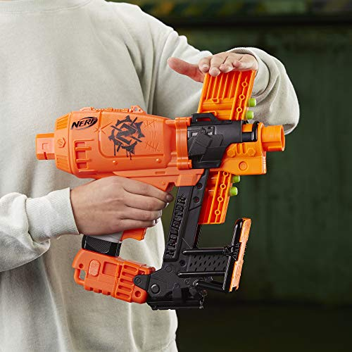516FAQF FjL - Nerf Nailbiter Zombie Strike Toy Blaster – 8 Official Zombie Strike Elite Darts, 8-Dart Indexing Clip – Survival System – for Kids, Teens, Adults