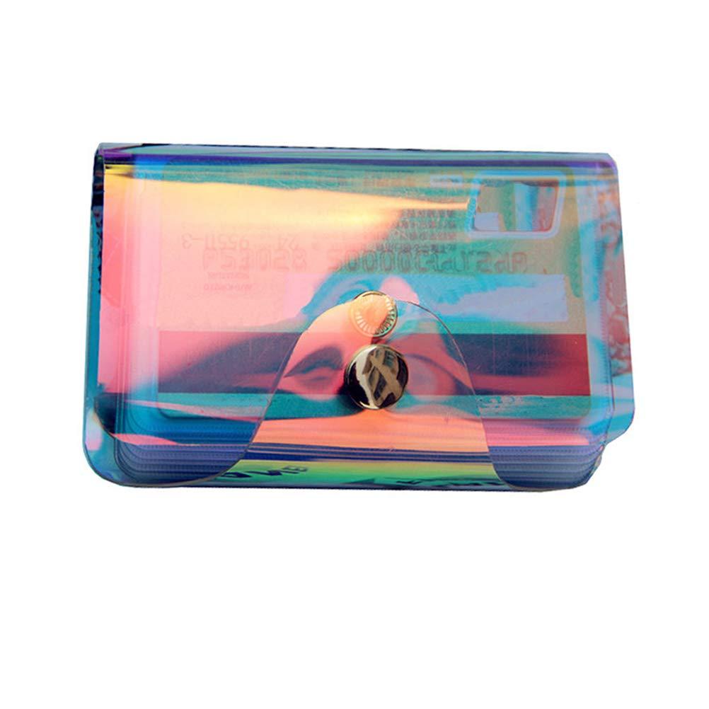 Holographic Shiny Laser PVC Clear ID Card Bag Credit Card Holder Case Transparent Key Purse Card Bag Hologram 1