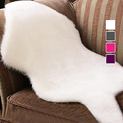 DZT1968 Soft Sheepskin Rug Chair Cover Artificial Wool Warm Hairy Carpet Seat Pad New
