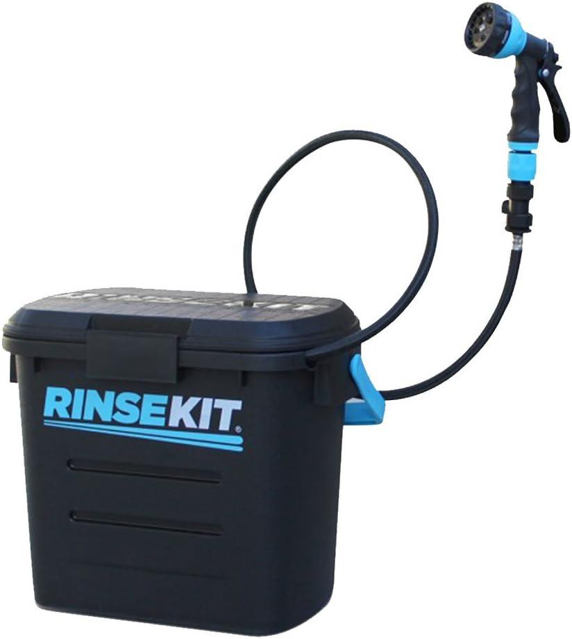 RinseKit Kit de Enjuague portátil, Color Negro