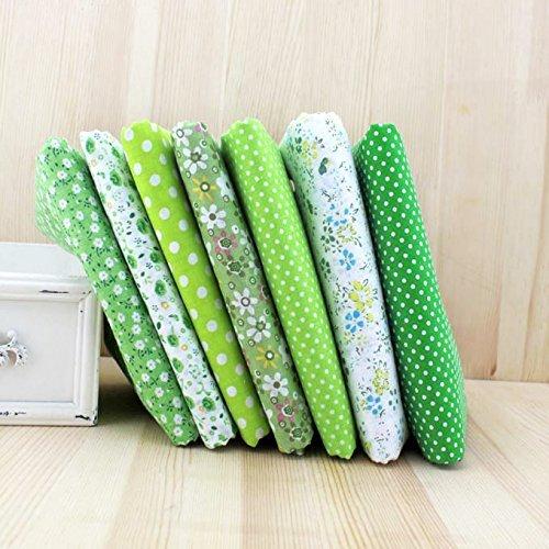 (Insunte (TM) 7pcs 50cm x47cm-50cm plain thin Patchwork Cotton dobby Fabric Floral Series Quilt Charm Quarters Bundle Sewing)