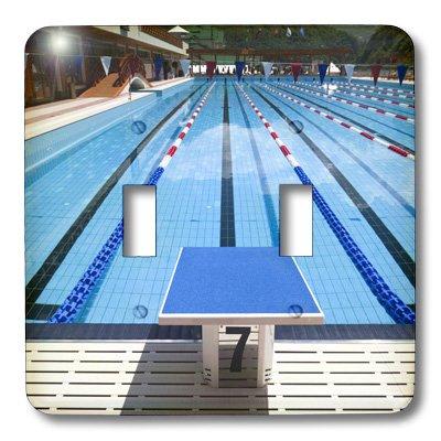 3dRose LLC lsp_82550_2 Russia, Gazprom Resort, Grand Hotel Polyana, Pool Eu26 Wbi0108 Walter Bibikow Double Toggle Switch