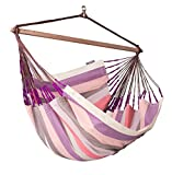 LA SIESTA Domingo Plum - Weather-Resistant Lounger Hammock Chair