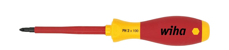 Wiha Schraubendreher SoftFinish electric Phillips (00846) PH0 x 60 mm  VDE geprü ft, stü ckgeprü ft, ergonomischer Griff fü r kraftvolles Drehen, Allrounder fü r Elektriker 321N0