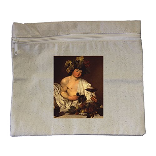 The Adolescent Bacchus (Caravaggio) Canvas Zippered Pouch Makeup - Bacchus Canvas