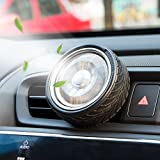 vanilla electronic cigarette - Car Fragrance Diffuser, Round Wheel Rotate Vent Clip Car Diffuser Air Freshener with 2 Aromatic Sheet Replacement