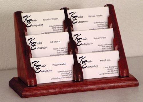 Wooden Mallet Desktop BCC2-6 Six-Pocket Oak Table