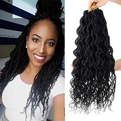 8 Packs Wavy senegalese twist crochet hair 18 inch crochet braids senegalese twist Synthetic Braiding Hair Extension best to buy