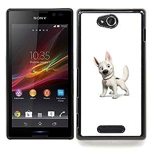- Bolt Dog - - Cubierta del caso de impacto con el patr??n Art Designs FOR Sony Xperia C S39h C2305 Queen Pattern