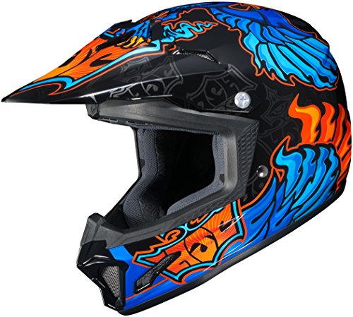 HJC XF-10-0865-1002-54 CL-XY II Eye Fly Youth Helmet, Distinct Name: MC-2, Gender: Boys, Helmet Category: Offroad, Helmet Type: Offroad Helmets, Primary Color: Blue, Size: Sm, Size Segment: Youth