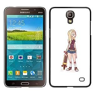 """Samsung Galaxy Mega 2 , JackGot - Impreso colorido protector duro espalda Funda piel de Shell (Polluelo del patinador"""")"""