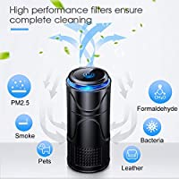Allergens Odors Bacteria NuvoMed Portable HEPA Filter Air Purifier For Car//RV