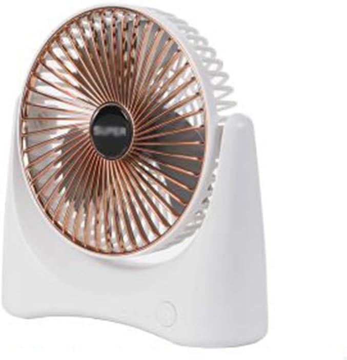 HNHT Mini Ventilador USB, Escritorio De Oficina Silencioso, Batería Recargable Doméstica En Miniatura, Ventilador De Dormitorio para Estudiantes (A)