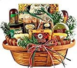 Hometown Holiday Gourmet | Christmas Gift Basket of Wisconsin Cheeses, Sausage, and Nuts