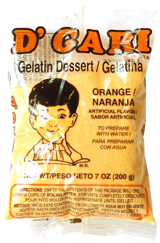 DGari Gelatin Dessert - Orange/Naranja Flavor