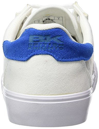 British Knights Lando - Zapatillas Hombre Blanco - Weiß (White-Royal Blue 04)