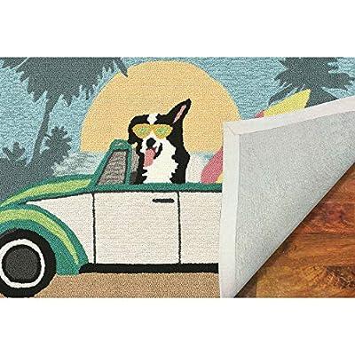 Liora Manne Folly Surfer Dog Rug