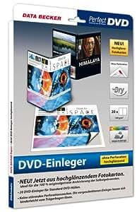 Data Becker DVD-Einleger ohne Perforation, hochglänzend - Etiquetas de impresora (hochglänzend, Inyección de tinta, Papel, DVD, 273x183 mm)