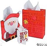 Jingle Santa Gift Bag Assortment (1Dozen) by FX