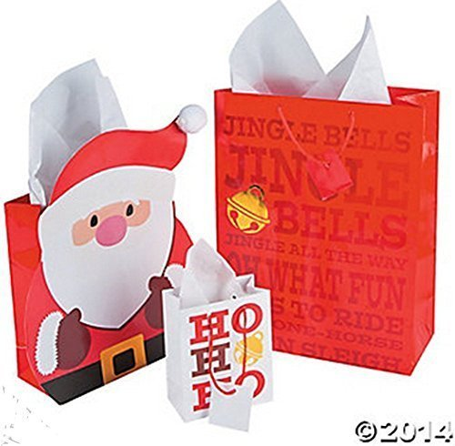 Jingle Santa Gift Bag Assortment (1Dozen) by FX by FX