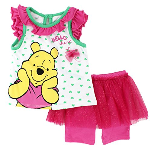 Winnie the Pooh Baby Girls Tank Top and Shorts Set (18 Months, (Pooh Baby Girl)