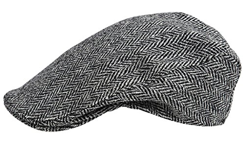 (Harris Tweed.Made in Scotland.The Aberdeen 'Brad Pitt' Style Flat Cap.made by Hanna Hats)