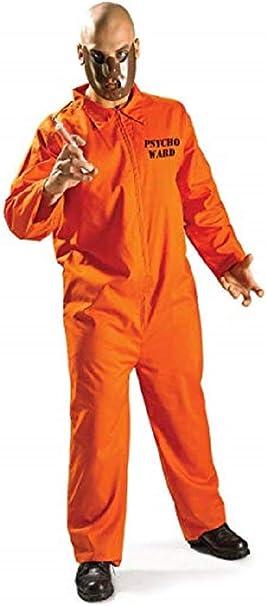 Mens Hannibal Lecter Lector Jumpsuit Prisoner Halloween Fancy ...