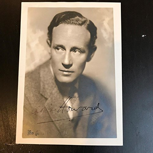 Beautiful 1930's Leslie Howard Signed Autographed Photo Gone With The Wind JSA Beautiful Autographed Photo