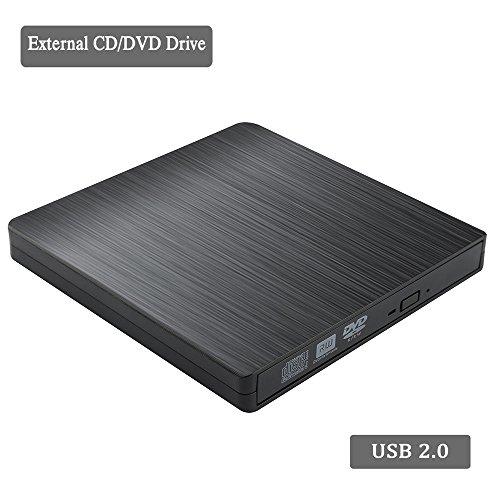 External CD/DVD Drive for Laptop USB CD Burner, Portable USB 2.0 High Data Transfer Speed Slim Optical cd rom drive No Need Install Drive For Laptop Mac Windows XP//vista/7/8/10 MacOS System by Dainty (Image #5)