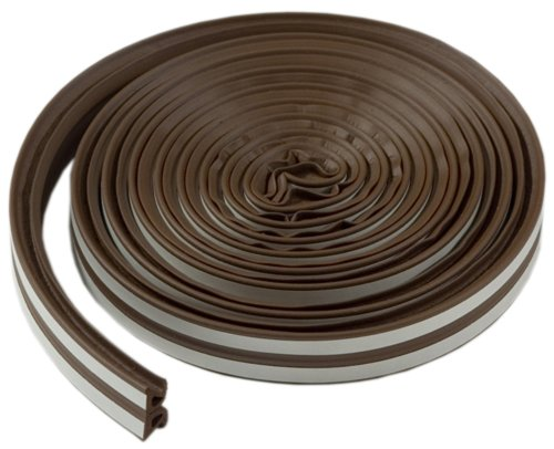 M-D Building Products 43848 M-D All Climate Wave Profile Weather Seal Tape, 17 Ft L X W 3/8 in T, 1-Pack, Brown