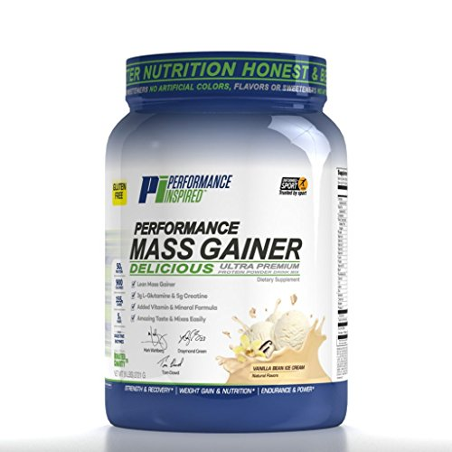 Performance Inspired Nutrition Mass Gainer, Vanilla Bean Ice Cream, 6 Pound by Performance Inspired Nutrition