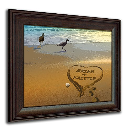 Sandpipers - Personalized Romantic Coastal Beach Framed Prints for Anniversaries, Weddings, Valentine's, and Christmas!