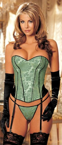 Strapless Tapestry Corset (38, Emerald)