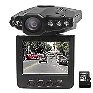HYLM LCD HD Car DVR Driving Recorder avec 120 degrés grand angle / vision nocturne / Prise en charge jusqu'à 32 Go Carte SD / MMC / enregistrement cyclisé Caméra portable caméra caméscope DVR Carcorder , packages two