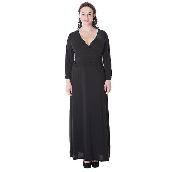 Kleid schwarz langarm lang