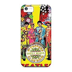 Scratch Protection Hard Phone Case For Iphone 5c (gBN20119AAul) Customized Realistic The Beatles Pictures