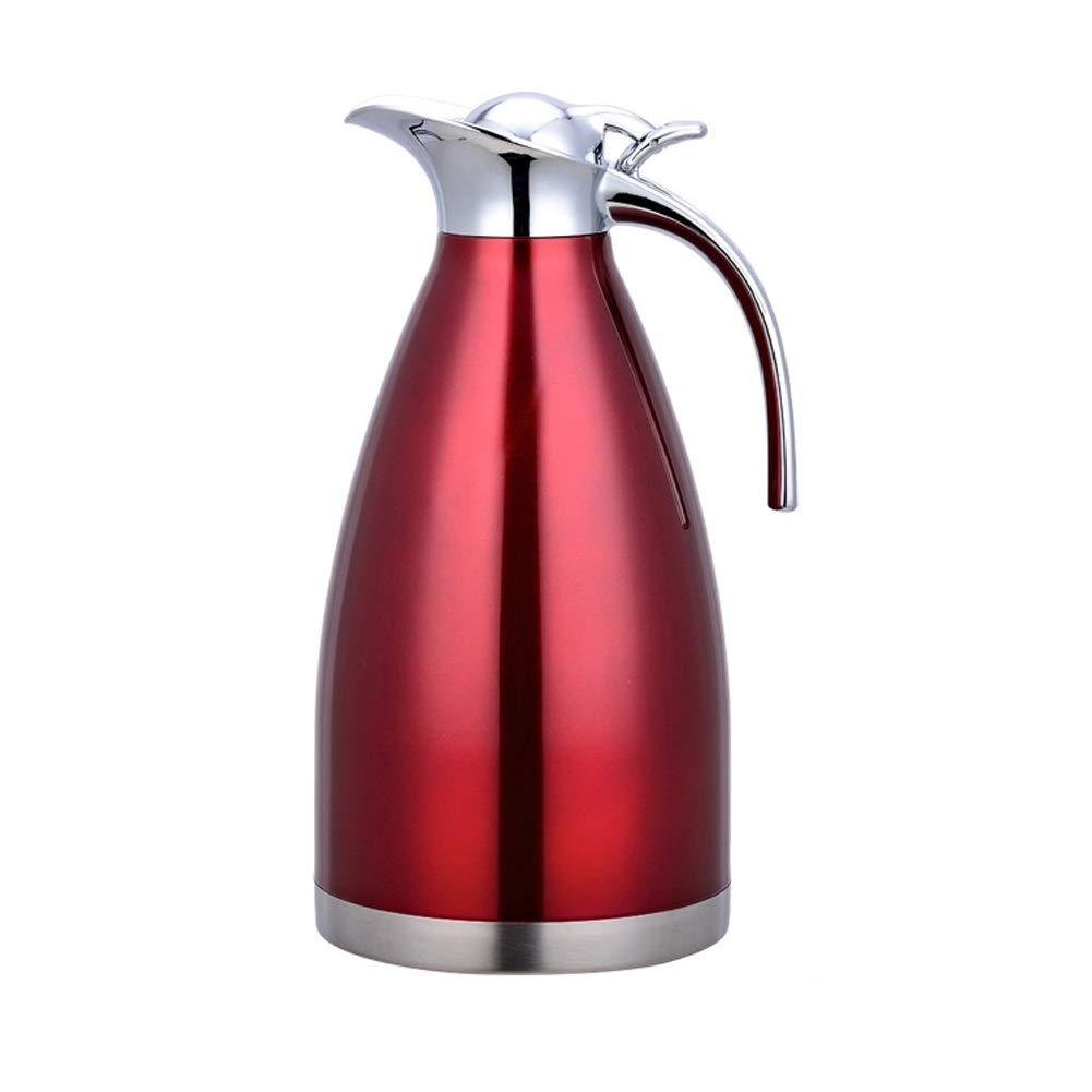 Acquisto MENGJF Pot di Isolamento in Acciaio Inox pentola Stile Europeo Doppio Strato caffettiera Termo Famiglia 2pcs / Set (Color : Red, Size : 1.5L) Prezzi offerta