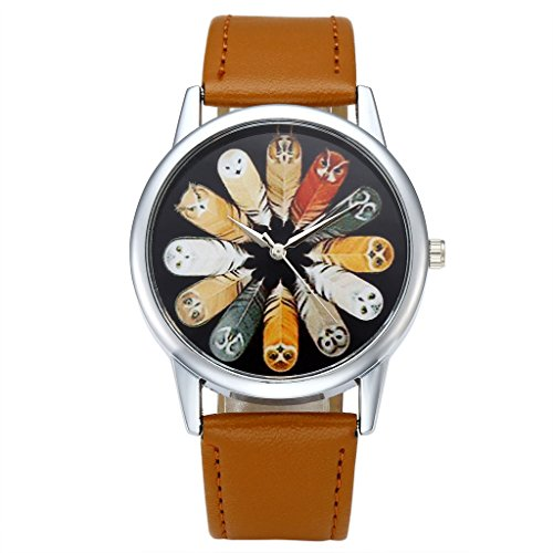 Top Plaza Leather Fashion Watch Brown