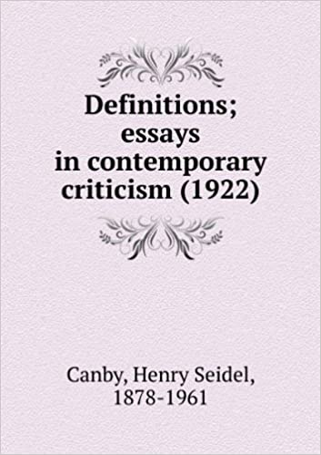 Definitions; First Series. Essays in Contemporary Criticism