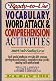 Ready-to-Use Vocabulary Word Attack and Comprehension Activities, Henriette L. Allen and Walter B. Barbe, 0876284799