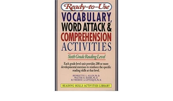 Amazon com: Ready-T0-Use Vocabulary, Word Attack