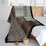 Onitiva - [Sex And The City] Animal Style Patchwork Throw Blanket (61 by 86.6 inches)