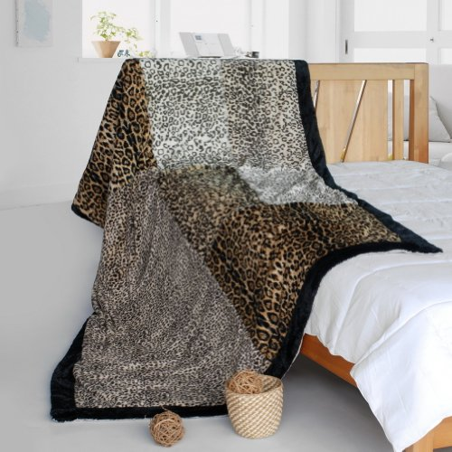 Onitiva - [Sex And The City] Animal Style Patchwork Throw Blanket (61 by 86.6 inches) by Onitiva Blanket