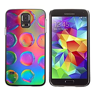 Design for Girls Plastic Cover Case FOR Samsung Galaxy S5 Water Droplets Colorful Neon Pink Bright OBBA