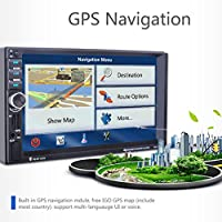 Boyiya GPS Navigation HD car radio player, 2 DIN Car 7 MP3 MP5 Player Stereo FM Radio GPS Sat Nav Bluetooth USB AUX